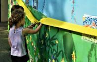 Inauguration de la fresque à l'école Jean Macé